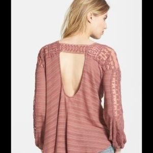 Free People Tops - Free People Valley City top in washed rose NWT